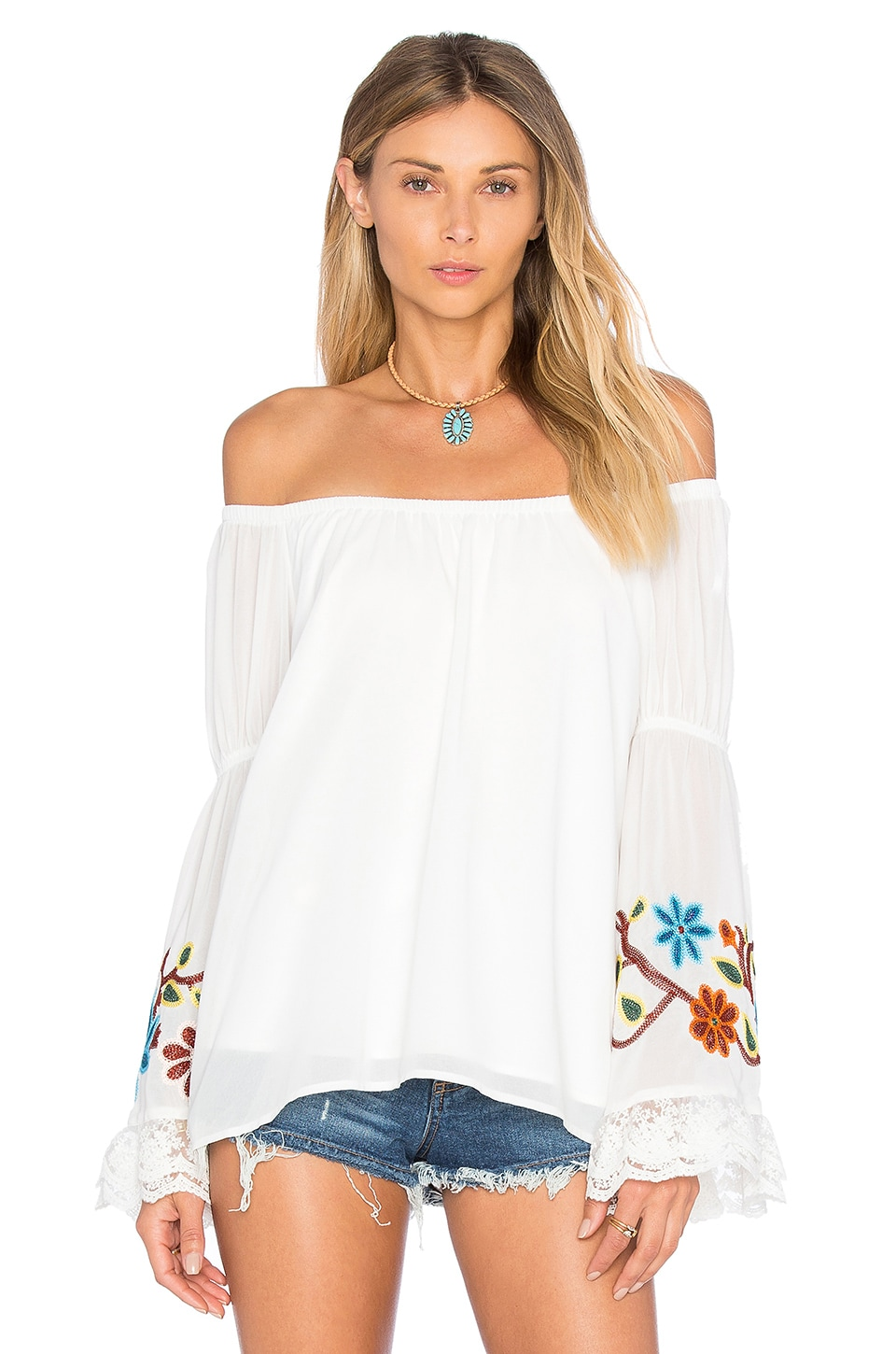 VAVA by Joy Han Meruvina Off Shoulder Top in White