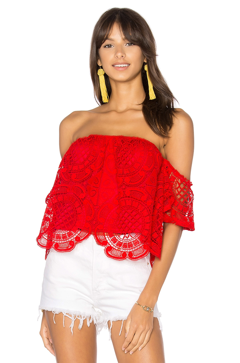 VAVA by Joy Han Laia Top in Red