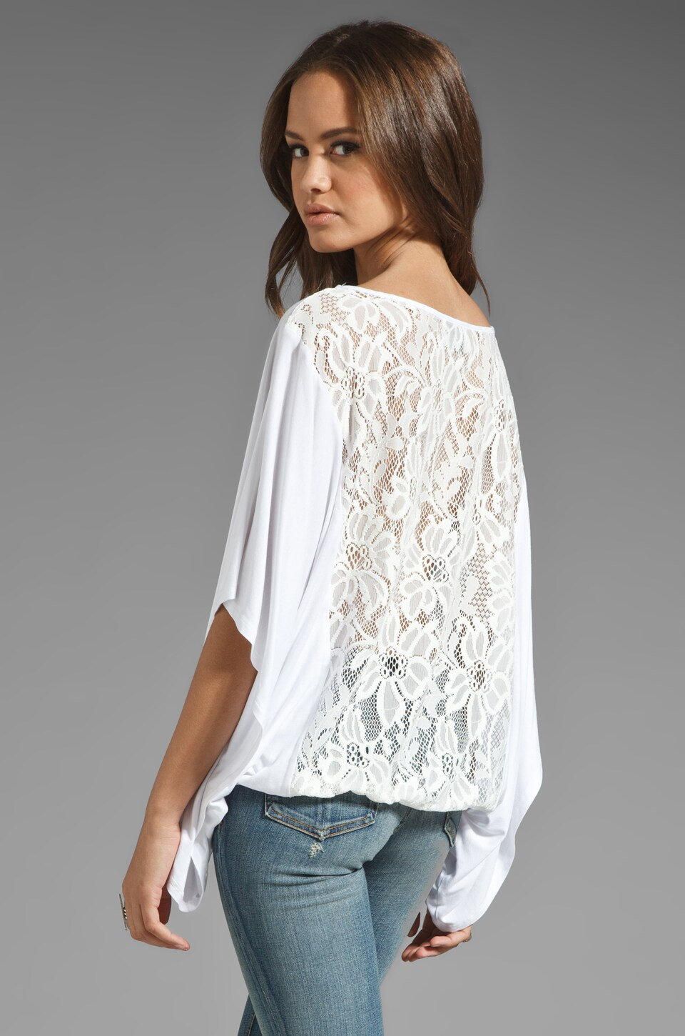 VAVA by Joy Han Skyler Lace Back Top in White