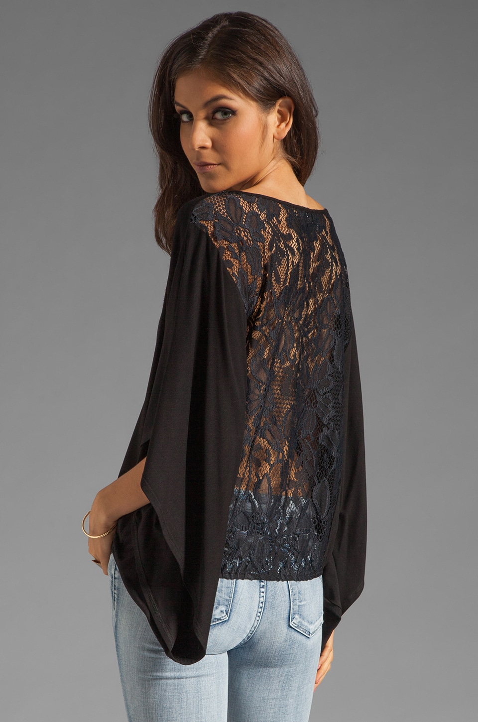 VAVA by Joy Han Skyler Lace Back Top in Black