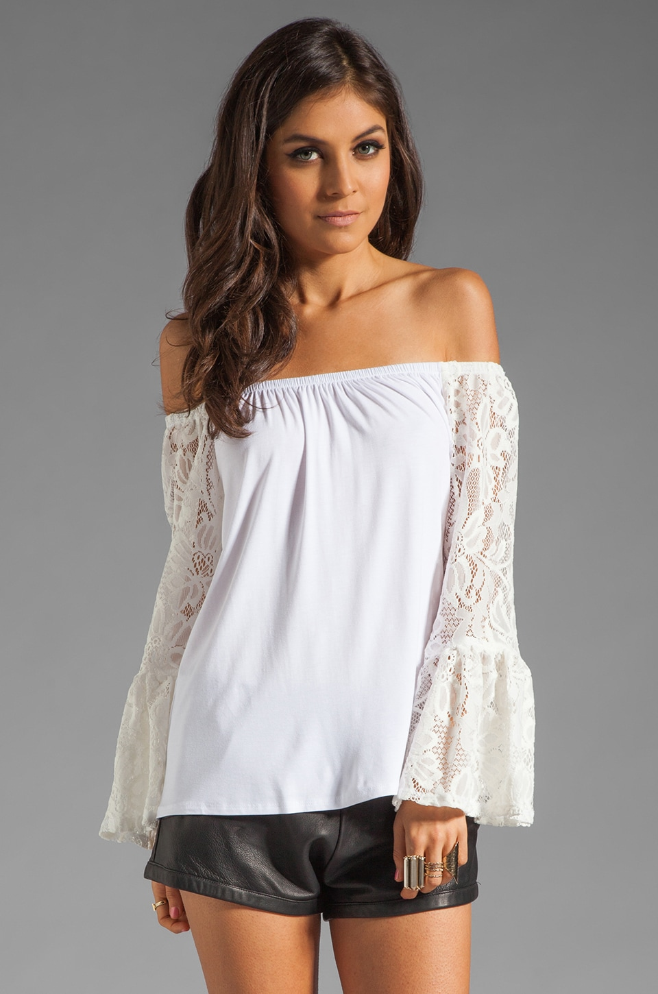 VAVA by Joy Han Skyler Off the Shoulder Top in White