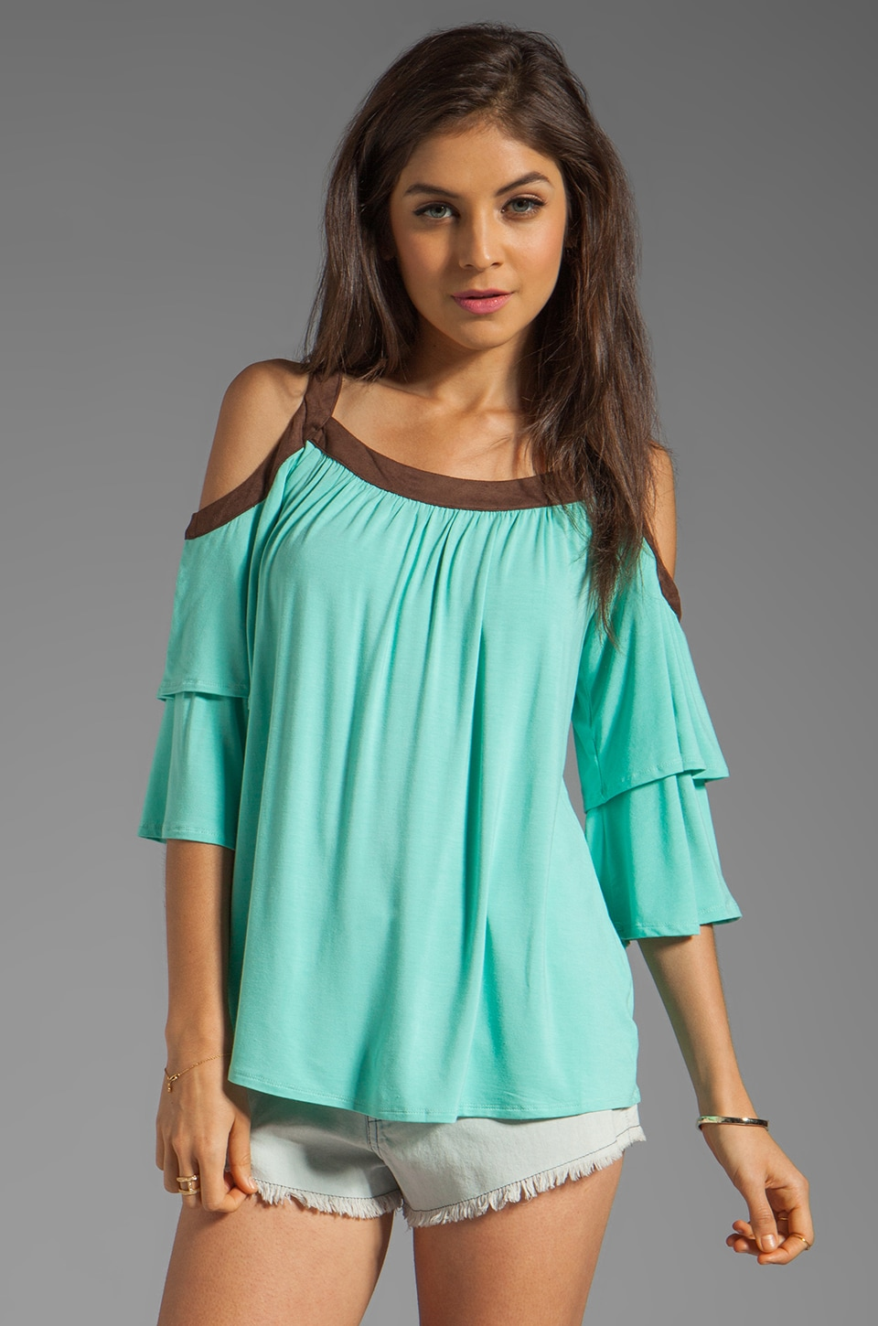 VAVA by Joy Han Piper Top in Mint