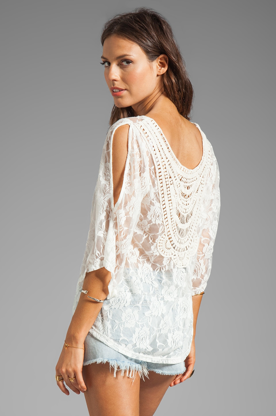 VAVA by Joy Han Bonnie Lace Top in Cream