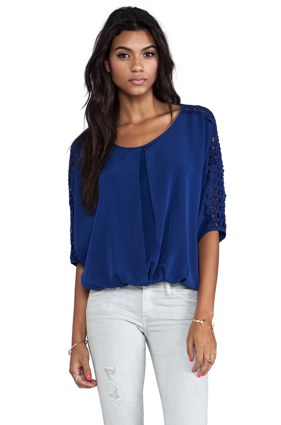 VAVA by Joy Han Elena Blouse in Navy