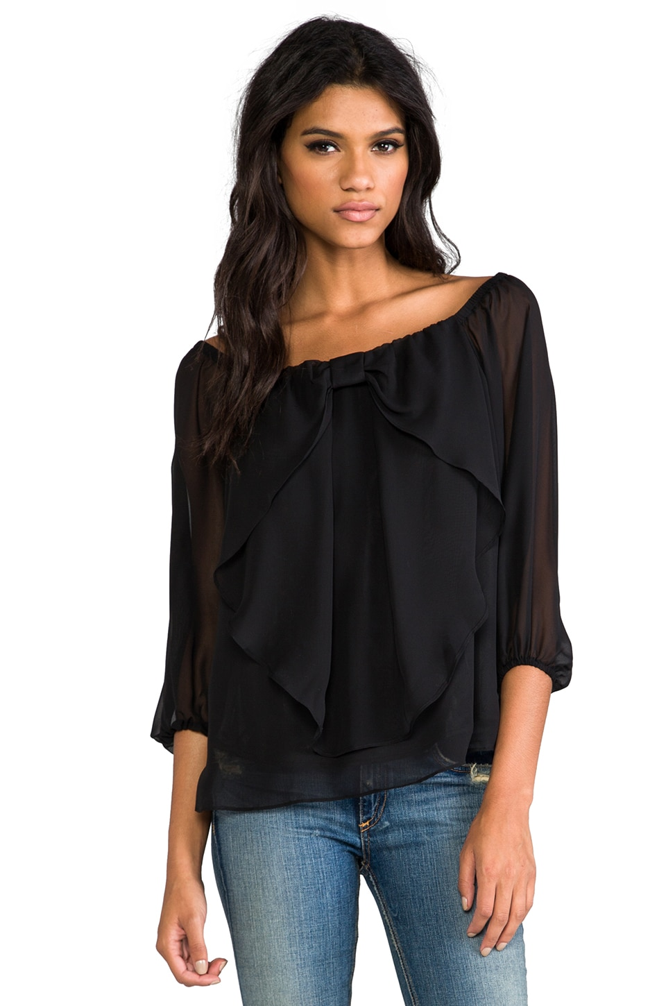 VAVA by Joy Han Lisabeth Top in Black