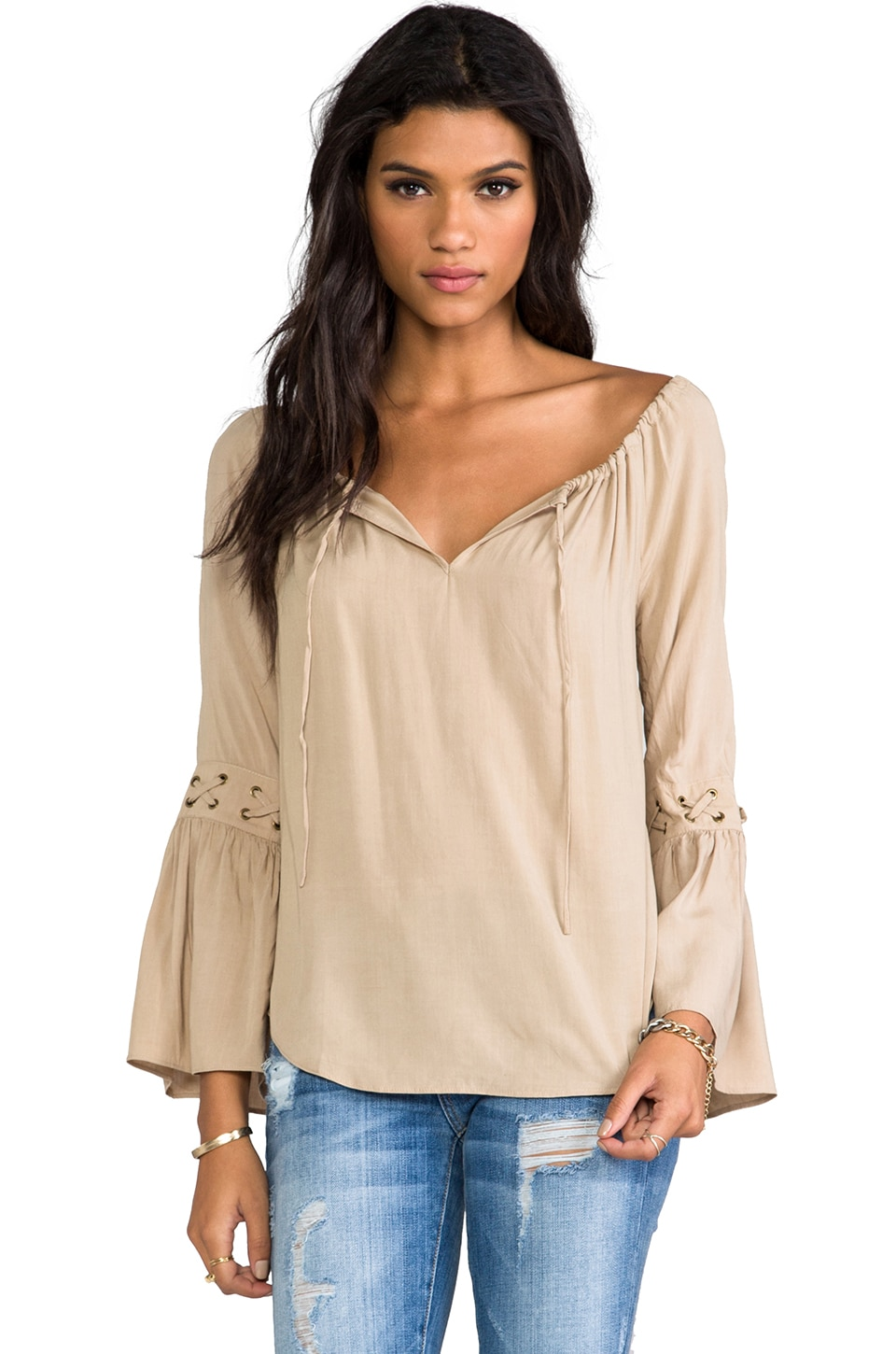 VAVA by Joy Han Gianna Top in Taupe