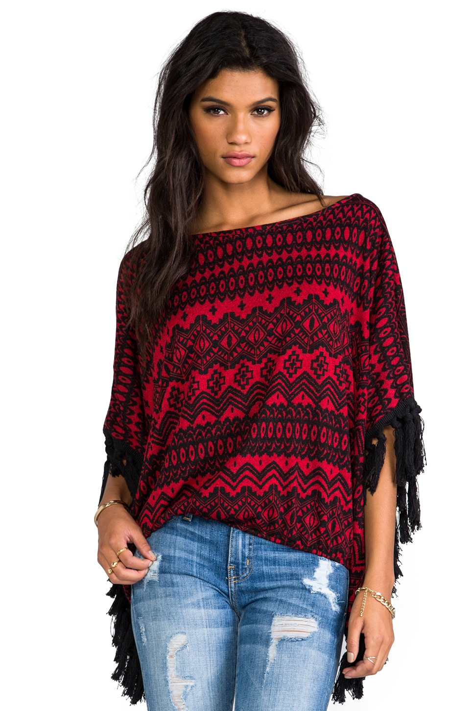 VAVA by Joy Han Adele Blouse in Red