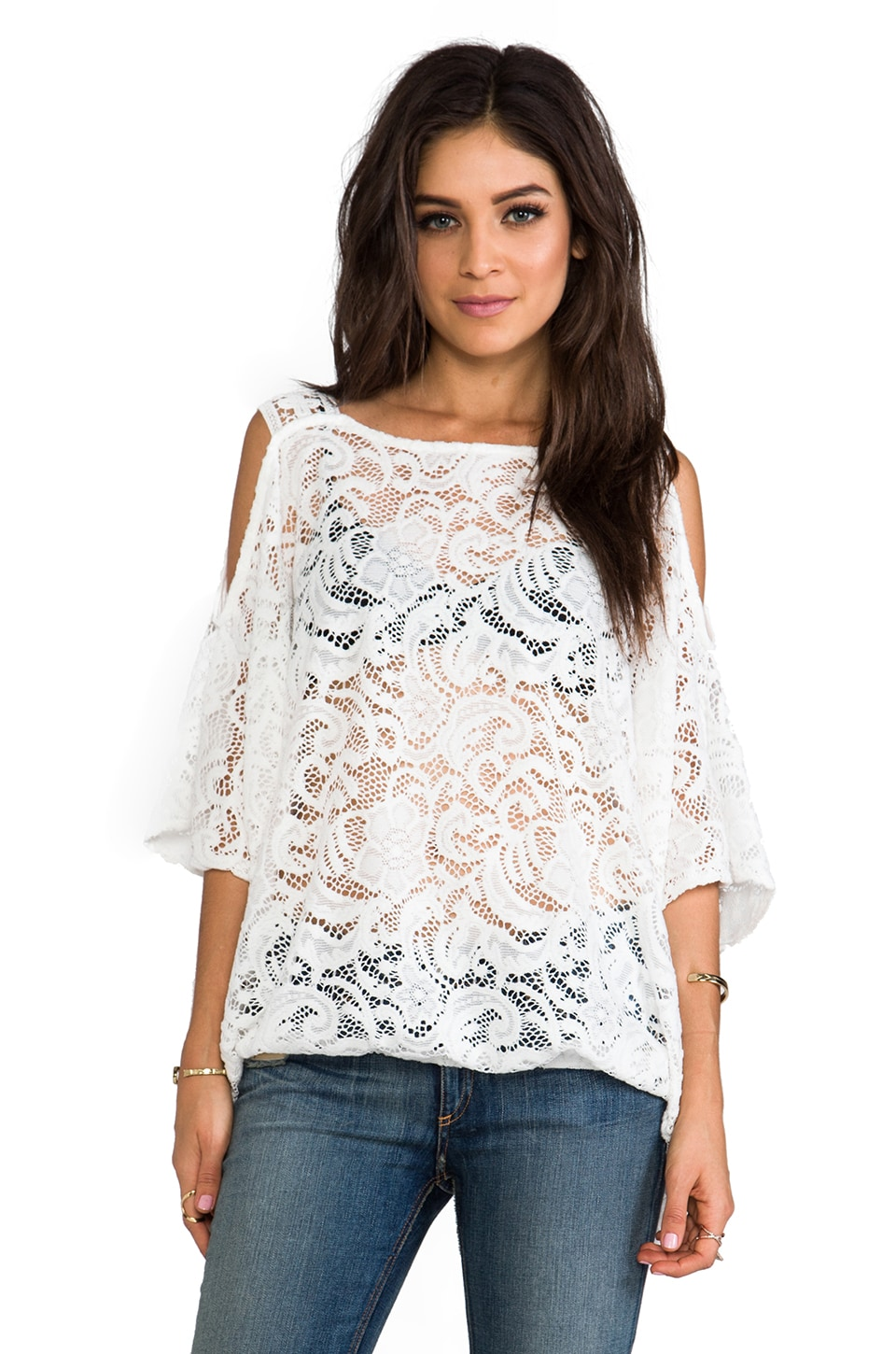 VAVA by Joy Han Valerie Shoulder Strap Top in White
