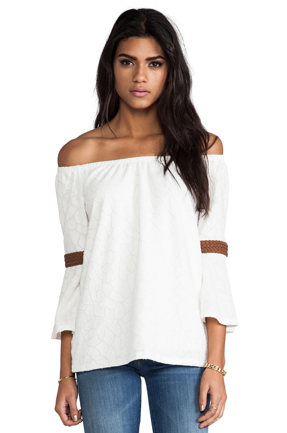VAVA by Joy Han Wendy Off the Shoulder Top in White
