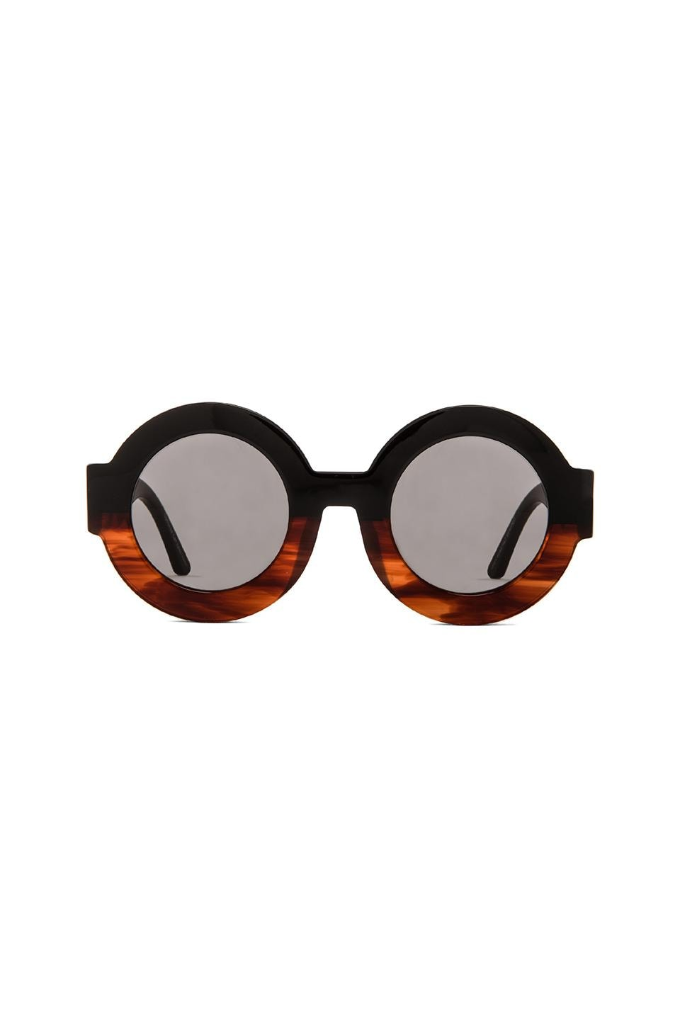 VALLEY EYEWEAR Scapula in Black Orange Fade & Grey Lens