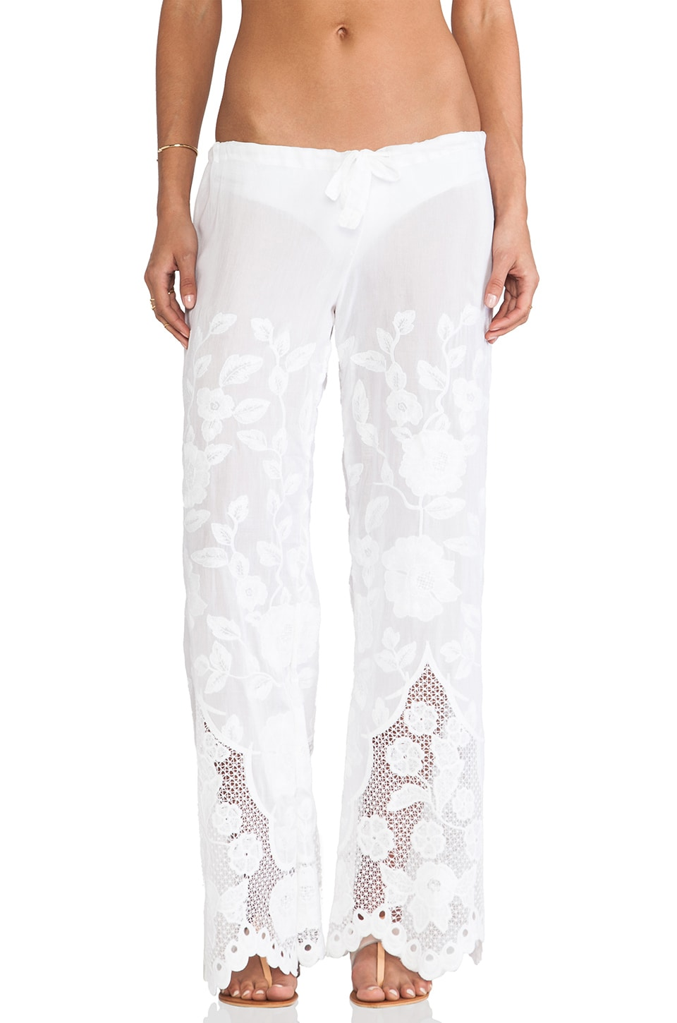 vitamin A Penelope Eyelet Pant in Broderie White