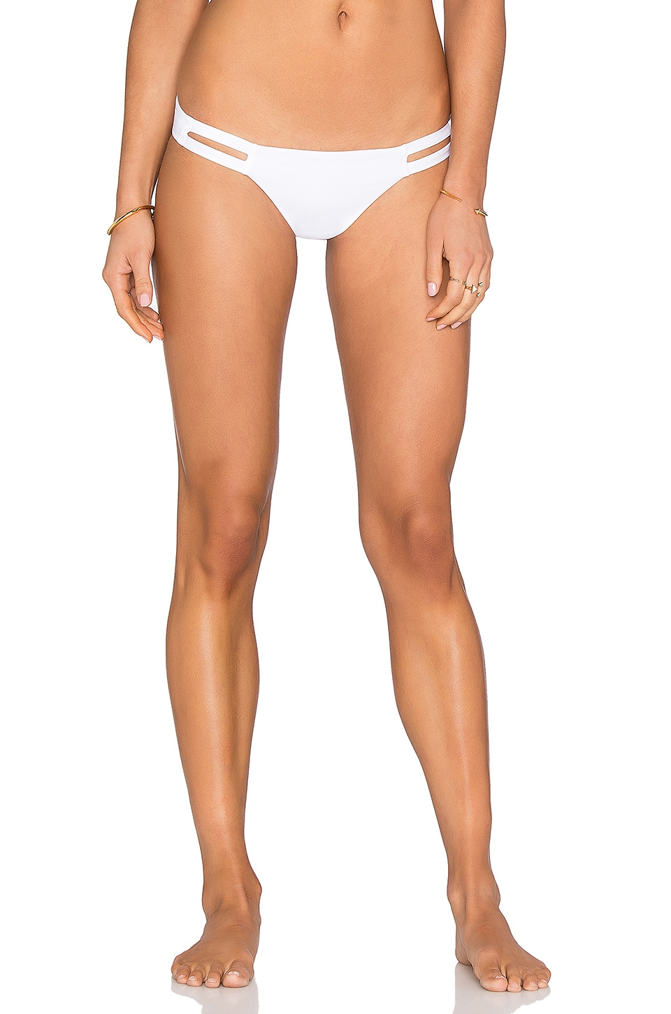 vitamin A Neutra Hipster Bikini Bottom in Eco White
