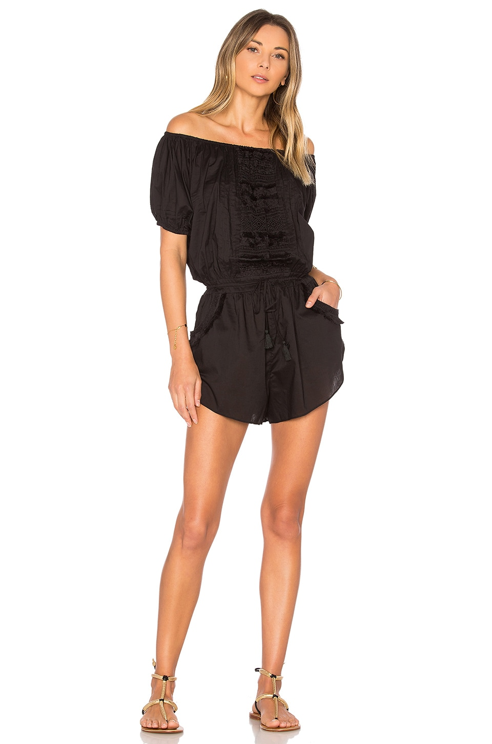 vitamin A Marmont Romper in Black