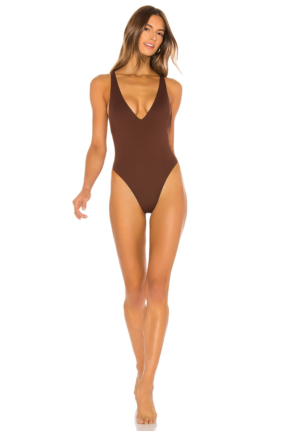 vitamin A Alana One Piece in Vintage Brown EcoLux