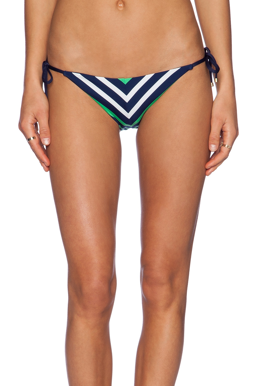 vitamin A Natalie Miter Bikini Bottom in Sail Stripe