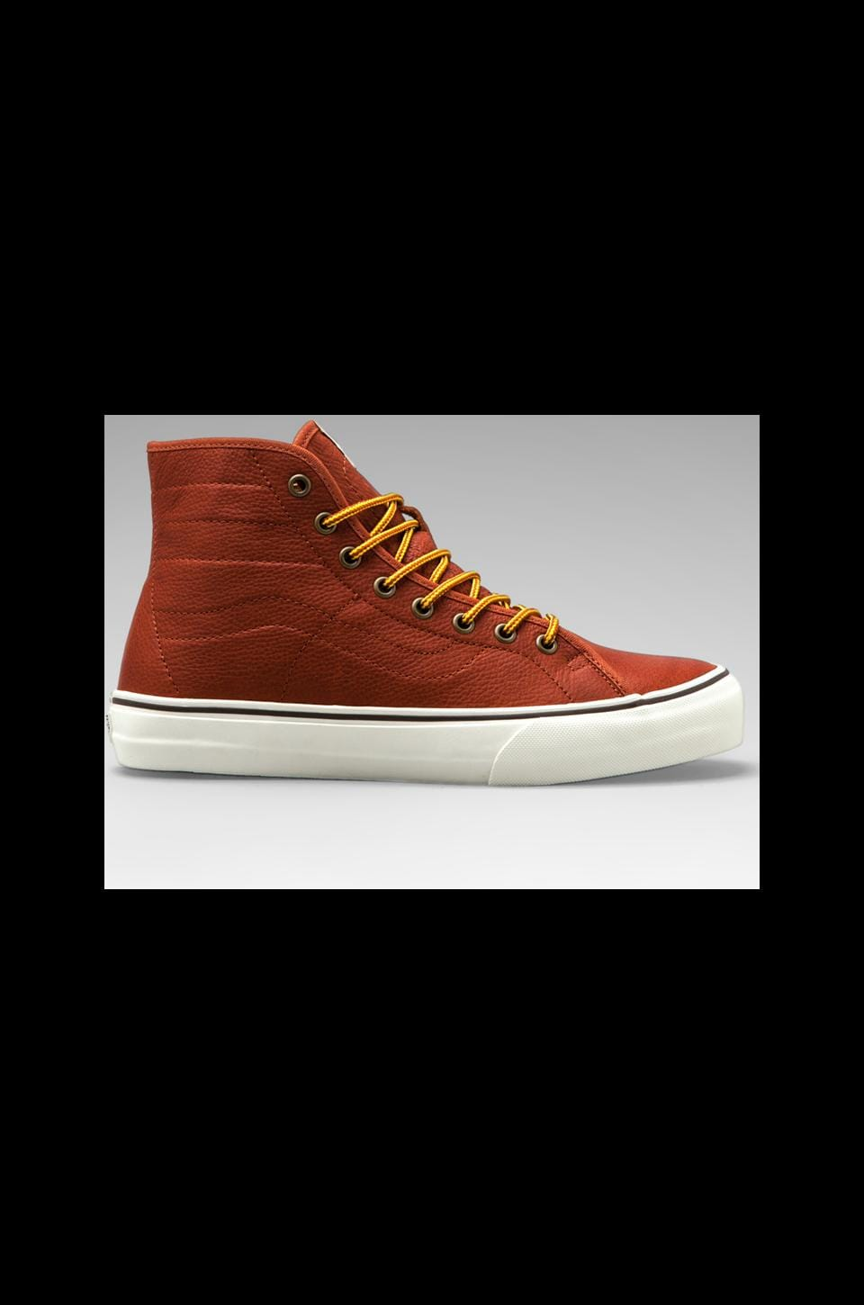 Vans California SK8-HI Leather in Henna