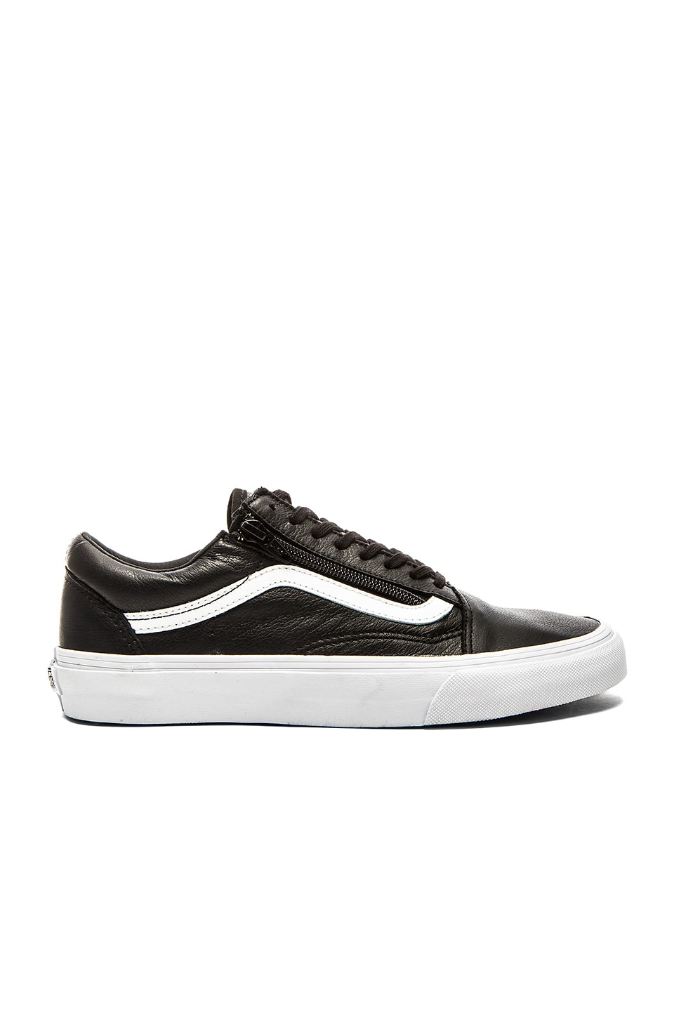 vans old skool leather zip