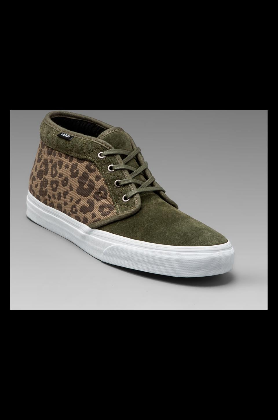 Vans California Chukka Boot Leopard Camo in Grape Leaf
