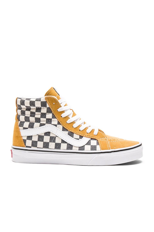 Buy yellow vans checkered - 62% OFF