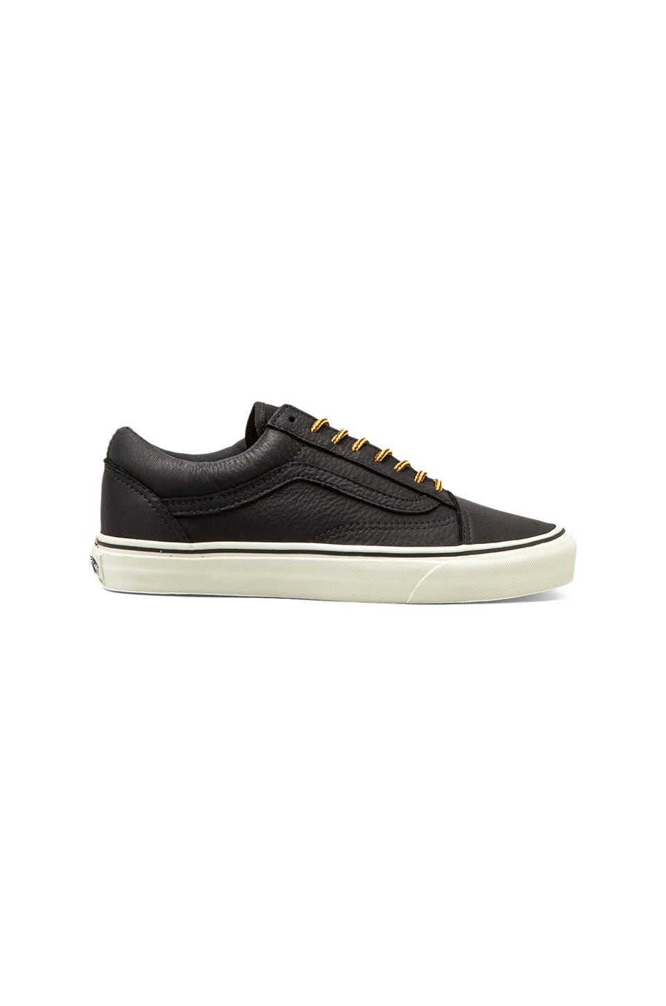 Vans California Old Skool Re-Issue Leather in Black/Vanilla Ice