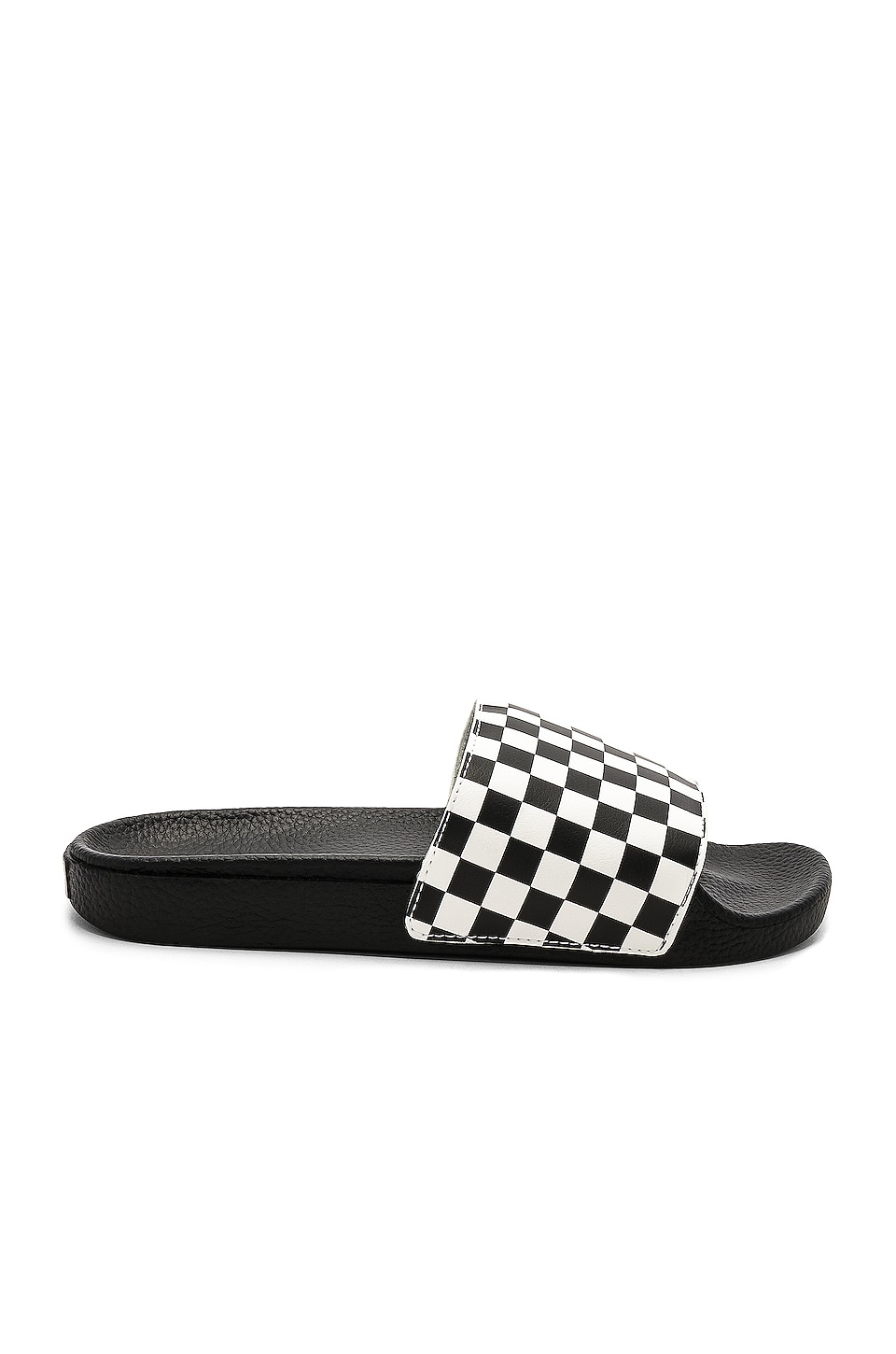 Vans Slide On in Checkerboard White