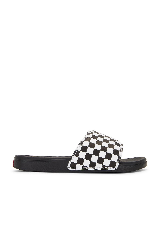 Vans Slide On in Checkerboard White