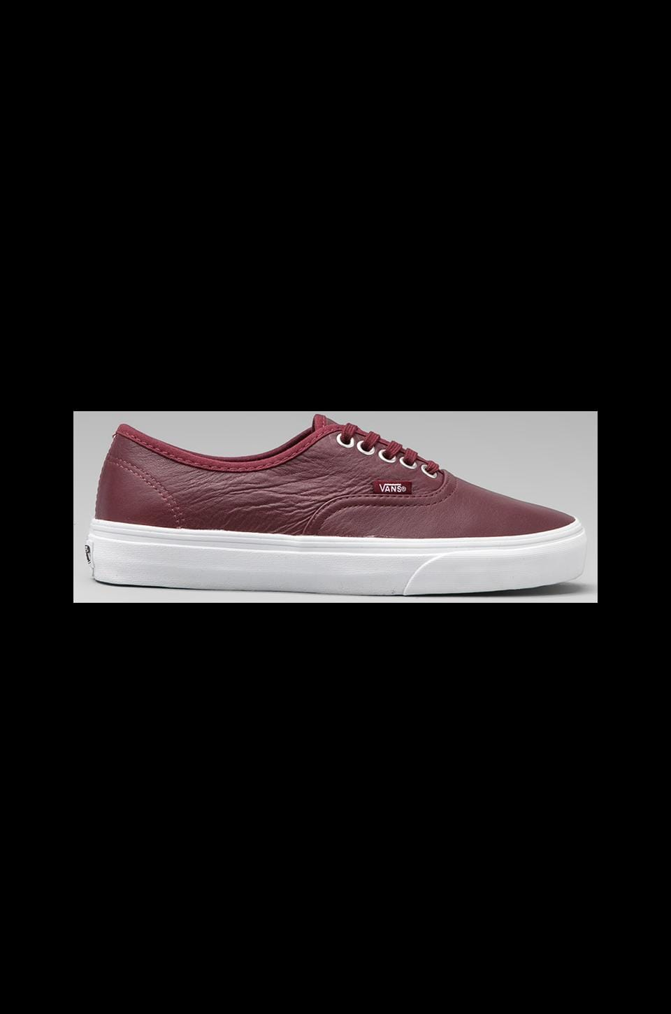 Vans Authentic Aged Leather in Port Royale