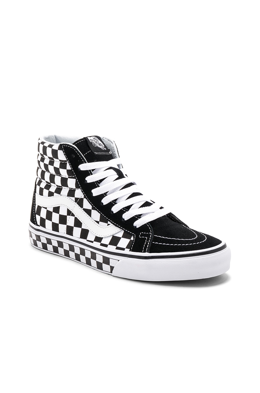 986723b1385 Vans Sk8-Hi Reissue Checkerboard in Black   True White   Check