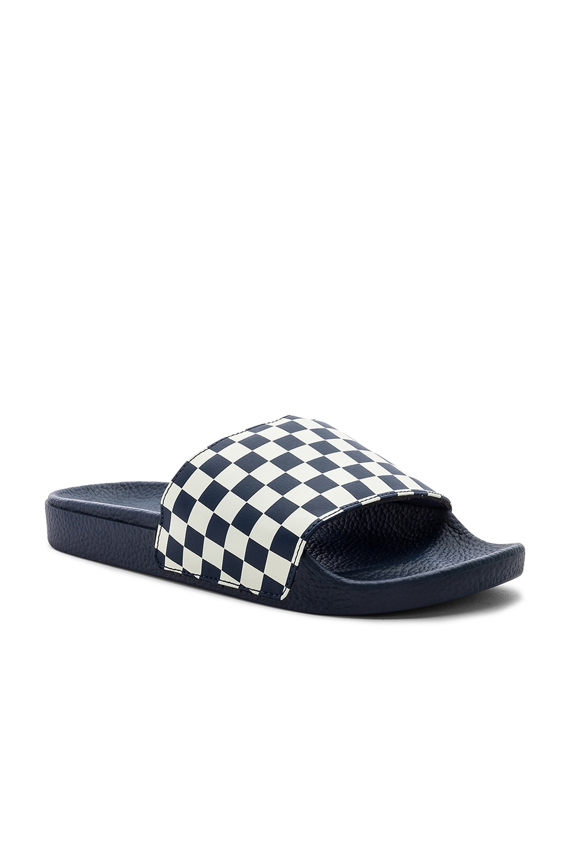 Vans Checkerboard Slide-On in Dress Blues