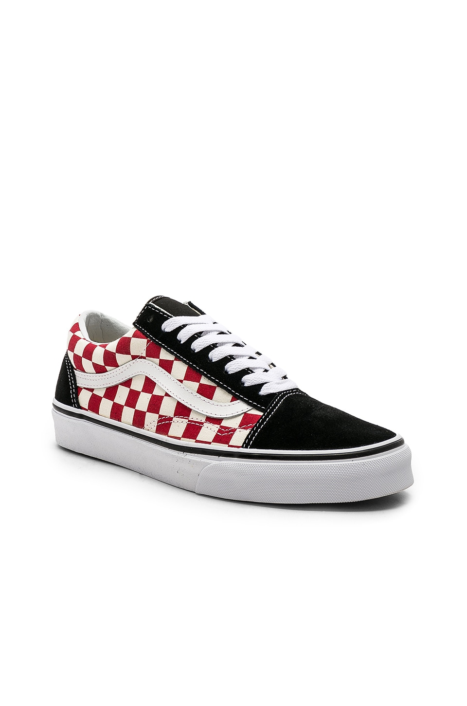 red checkerboard old skool vans mens