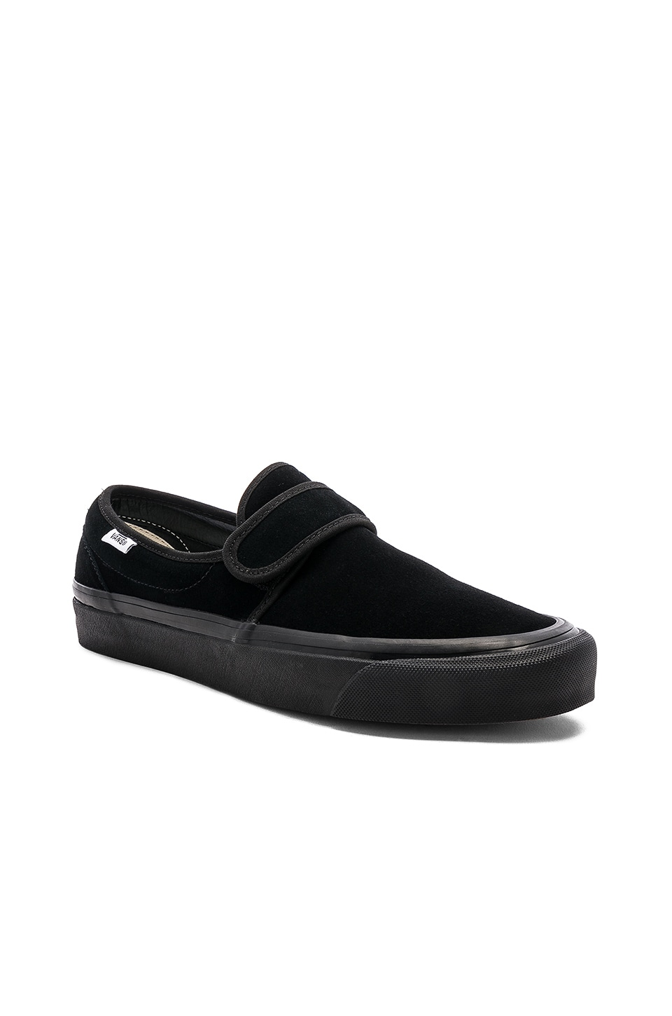 VANS Anaheim Factory Touch Strap Slip-On Sneakers In Black