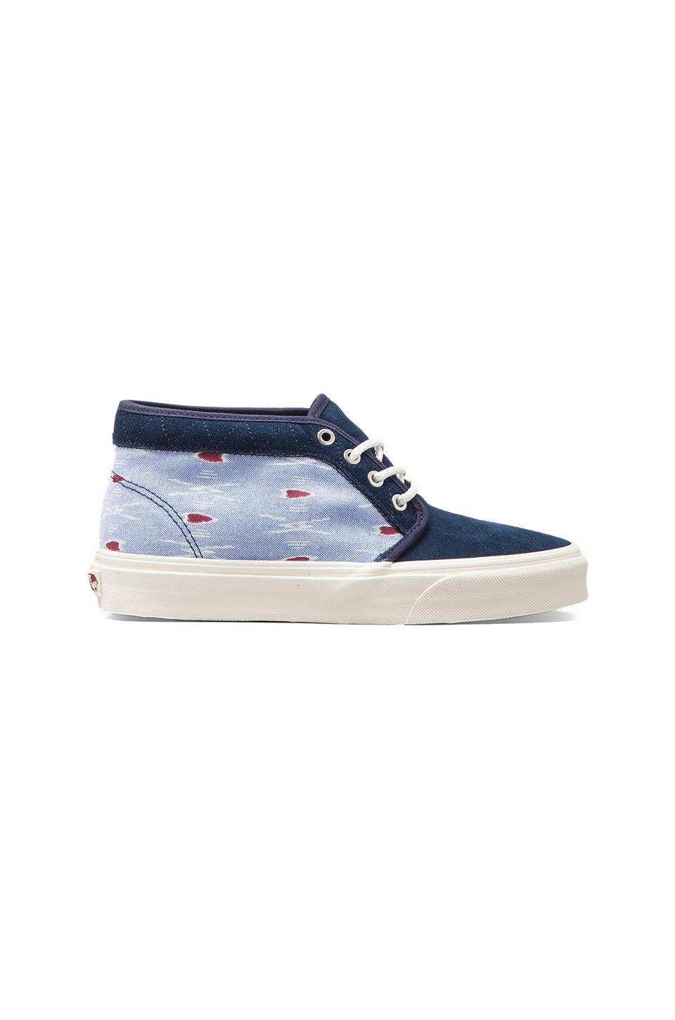 Vans California Chukka Boot Ikat in Dress Blues