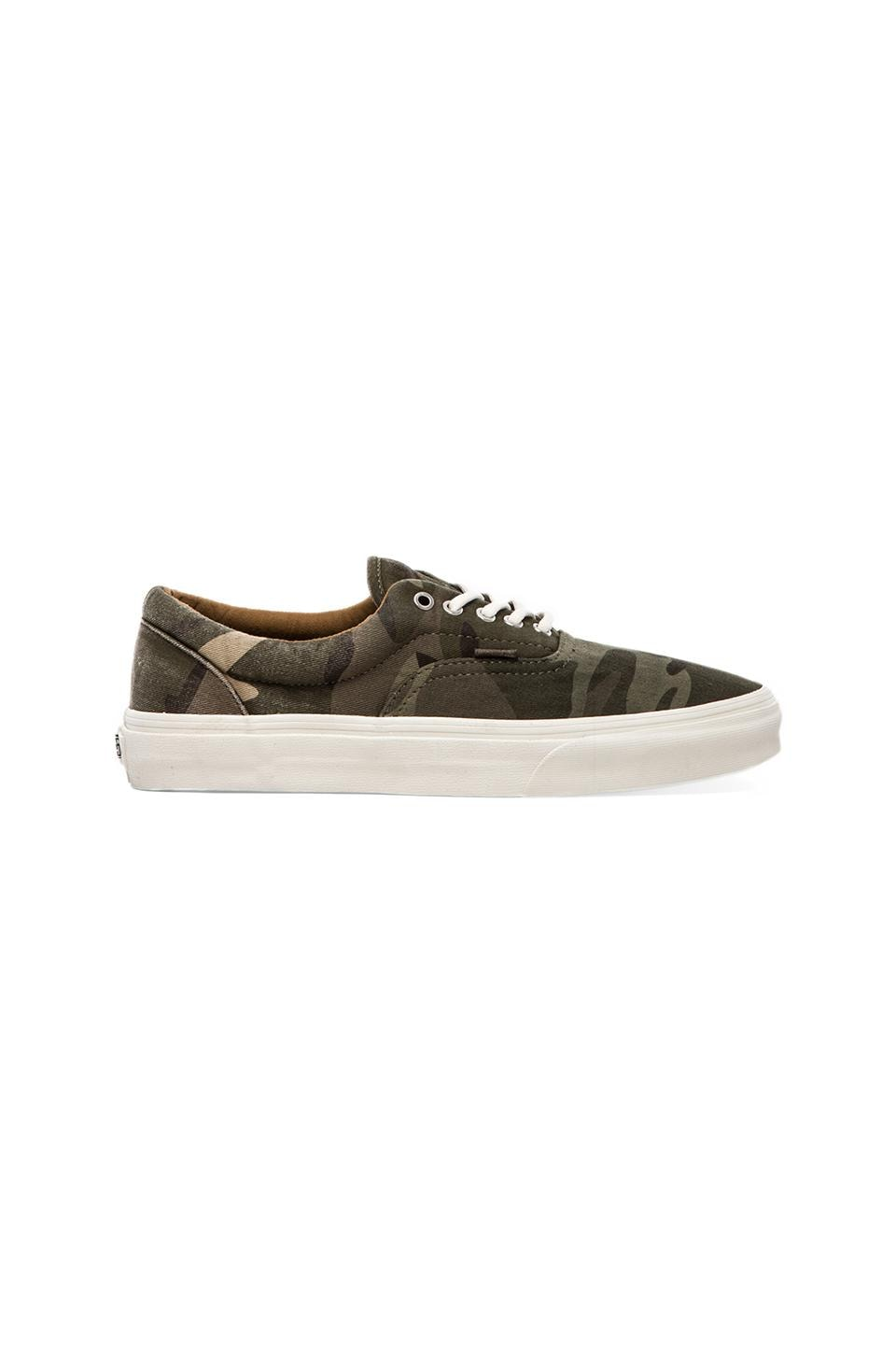 Vans California Era Ombre Dyed Camo in Olive Night