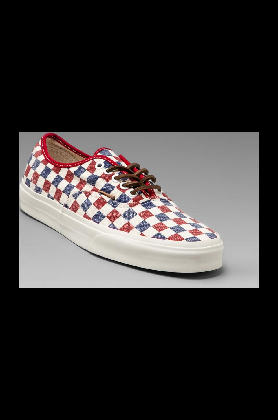 Vans California Authentic in Checker True Blue/Red
