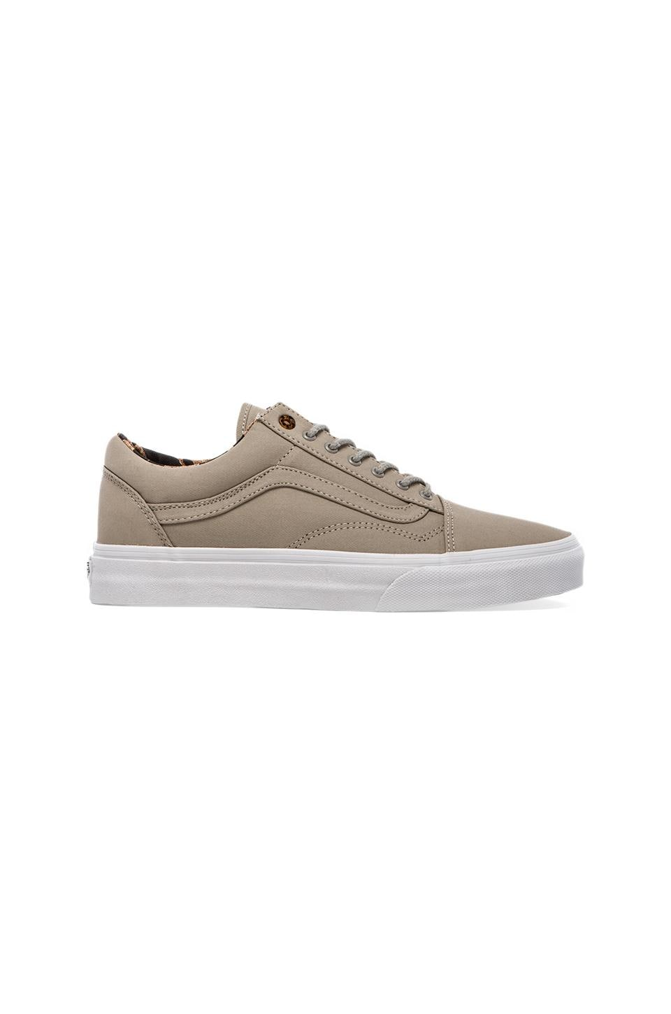 Vans California Old Skool Reissue Coated Twill in Taupe