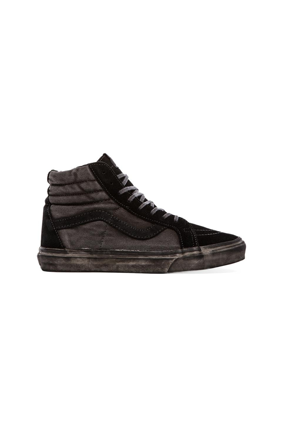 Vans California Sk8-Hi Reissue Over Washed in Black