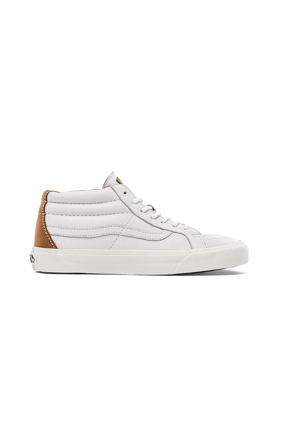 Vans California Sk8 Mid Nappa Leather in True White