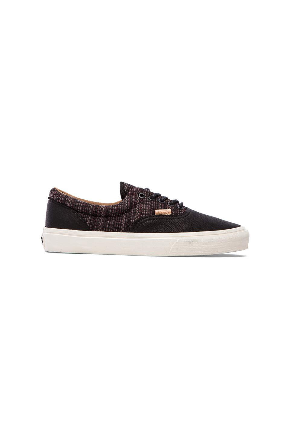 Vans California Era CA Italian Weave in Black/Burnt Orange