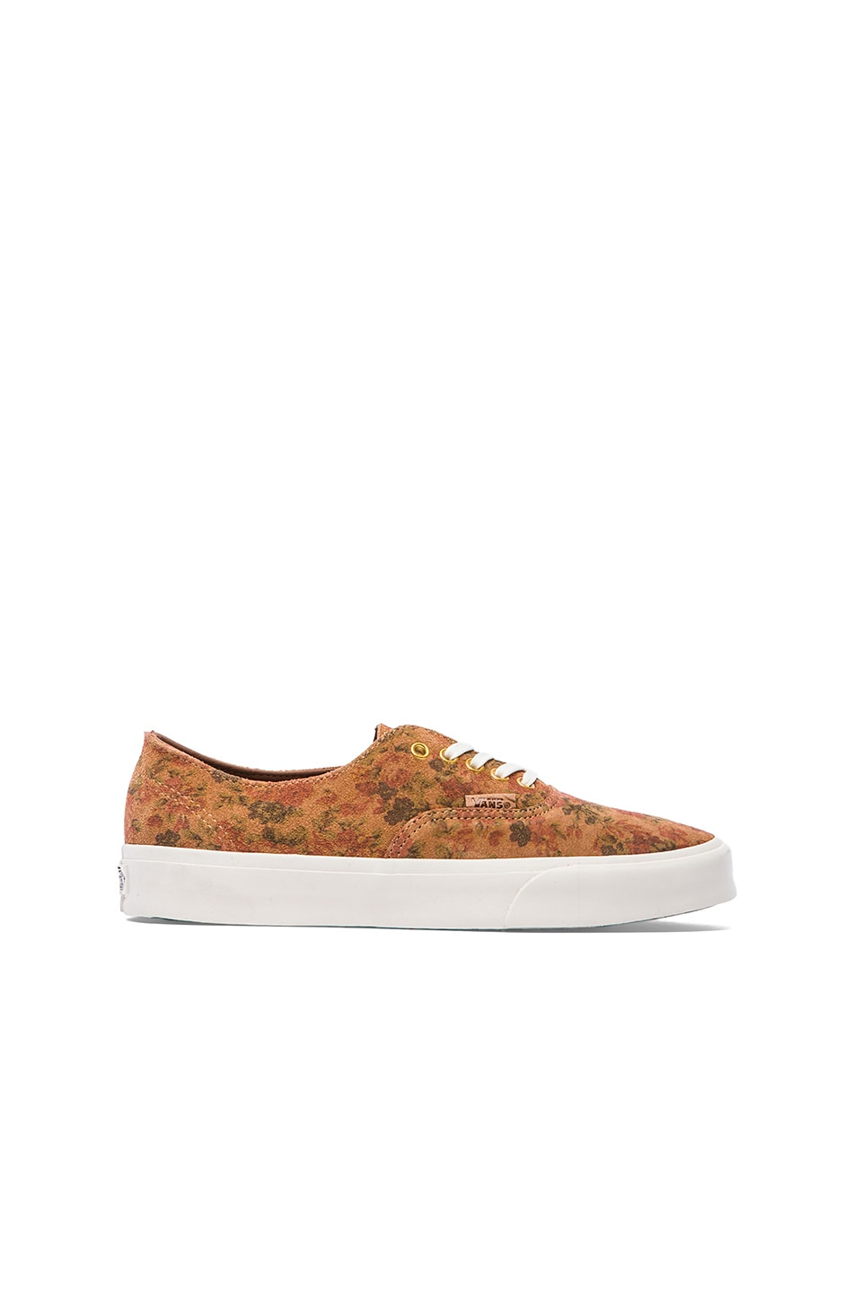 Vans Californnia Authentic Decon Floral Suede in Indian Tan