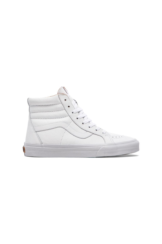 Vans Sk8 Hi Reissue in White & Bran