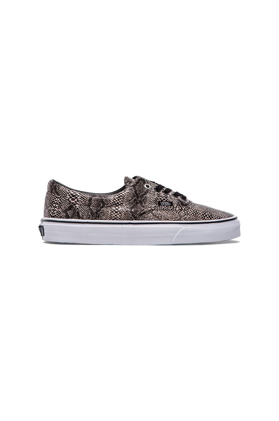 Vans Era Snake in Black & Khaki