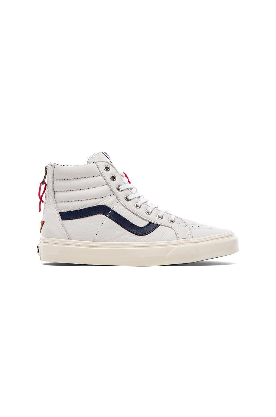 Vans California Sk8-Hi CA Zip in True White