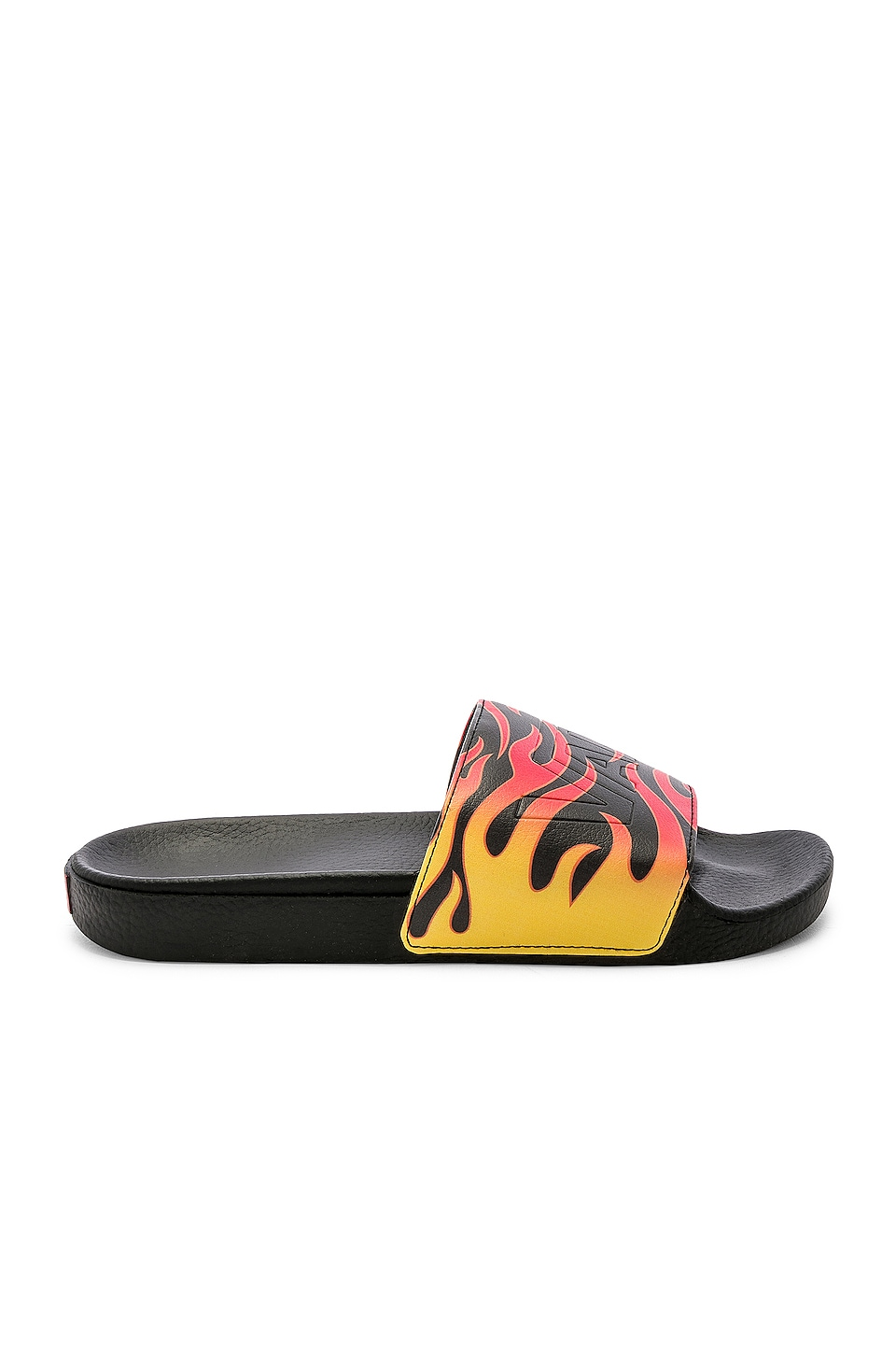 Vans Slide On Flame in Black