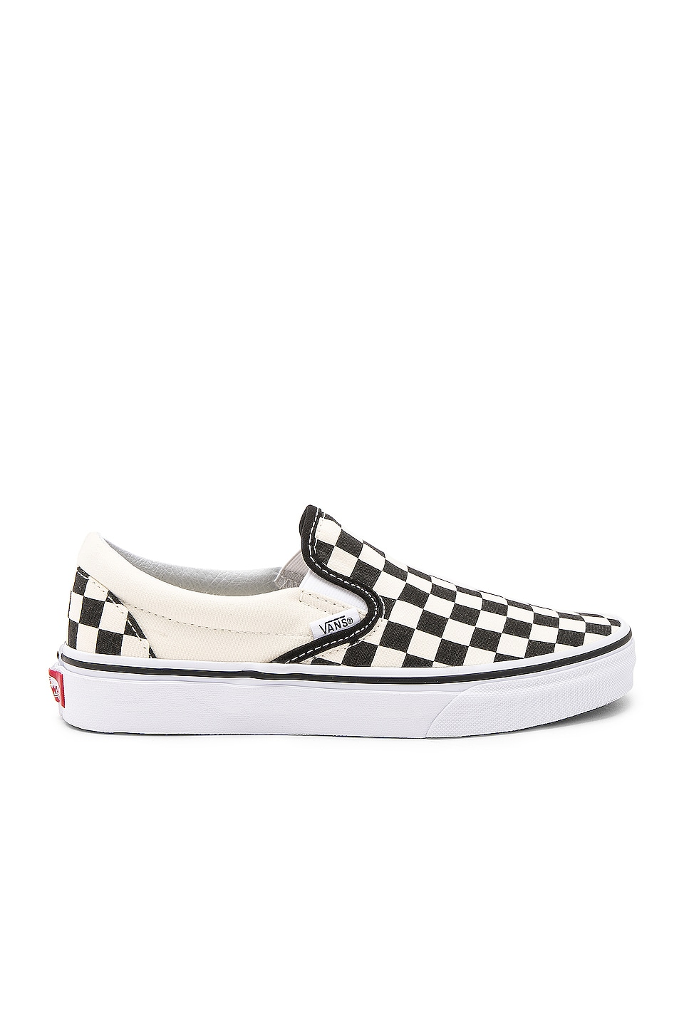 Vans Classic Slip On in Black and White Checker & White