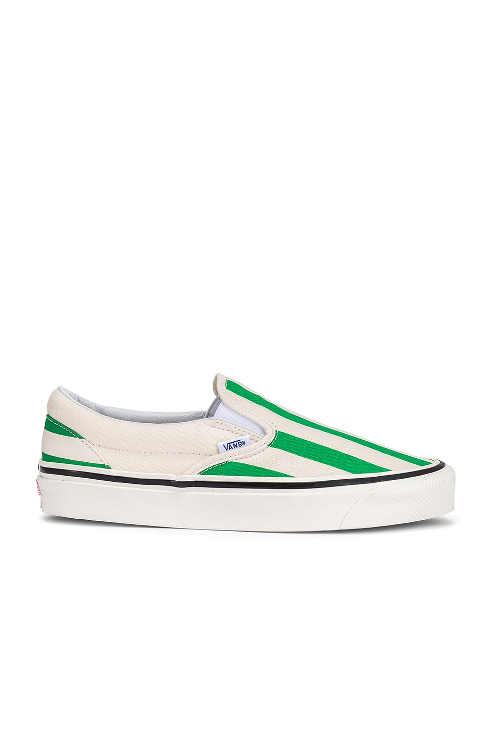 Vans Classic Slip-On 98 in OG White & OG Emerald