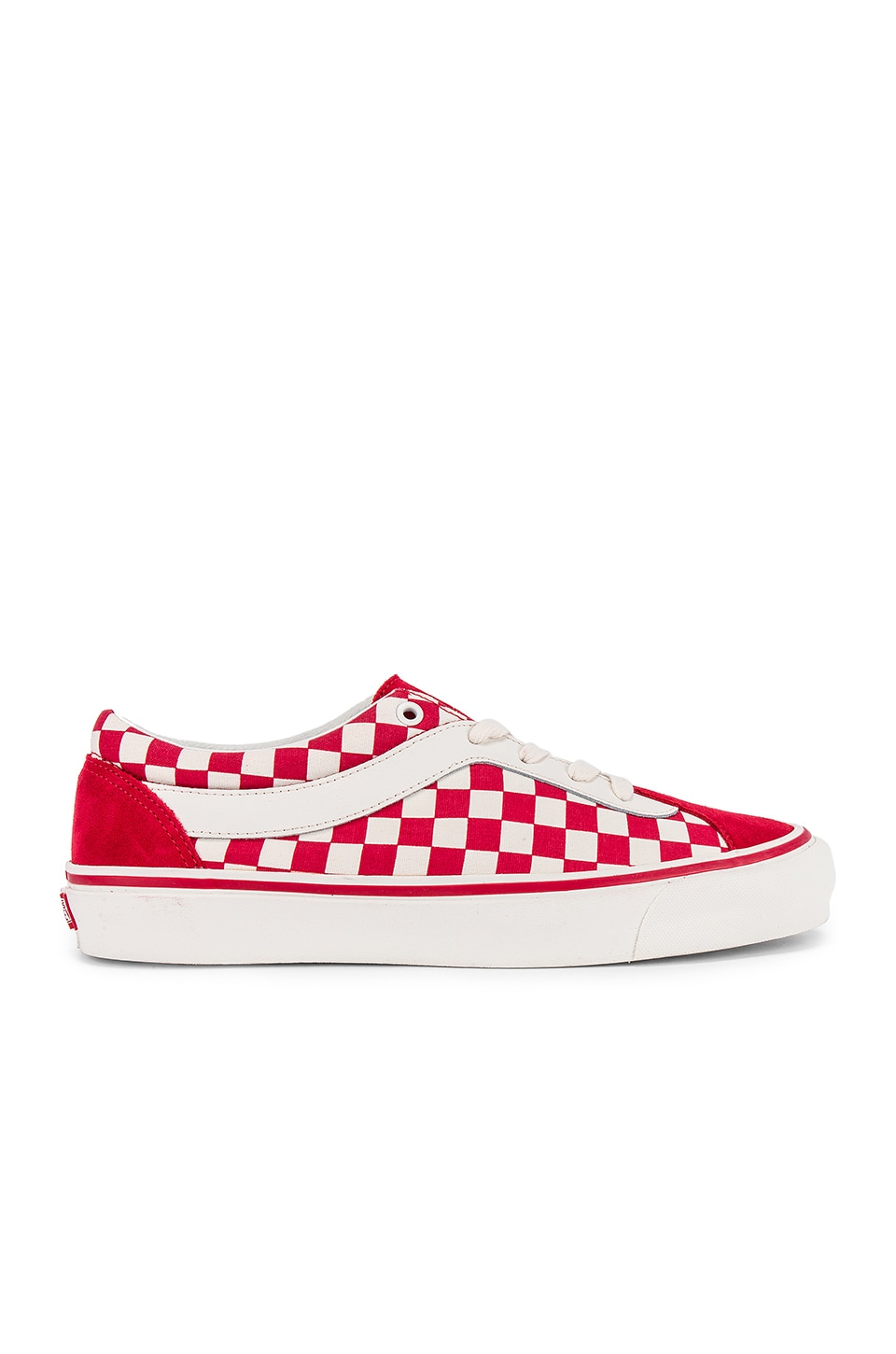 Vans Era Bold Checkered Sneaker in Racing Red & Marshmallow