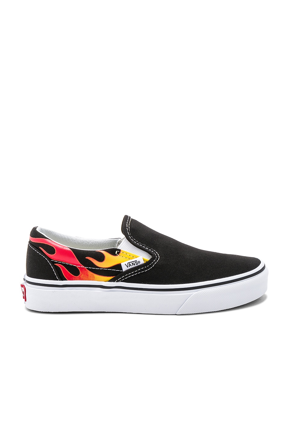 b42e1ef3b6 flame slip on vans