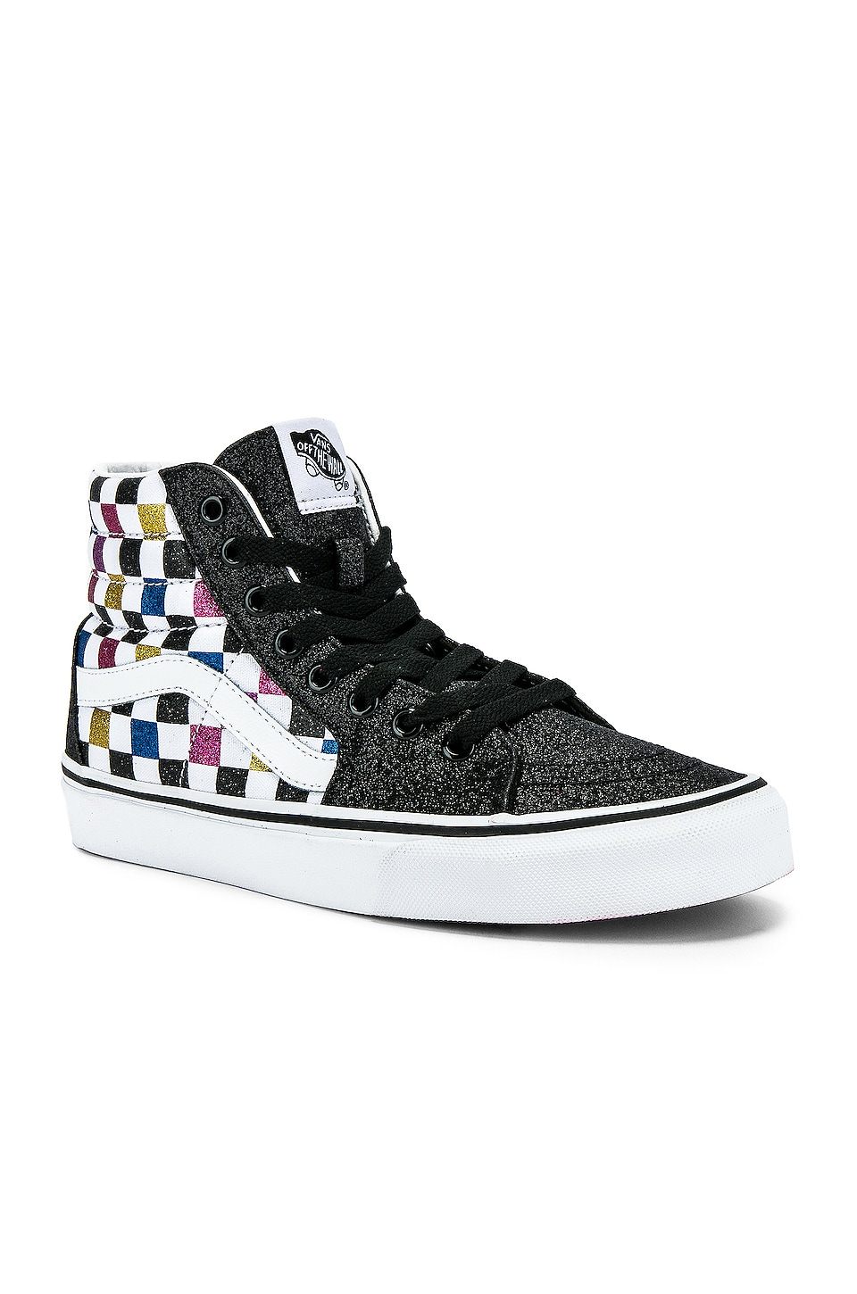 Vans Sk8-Hi in Black & True White