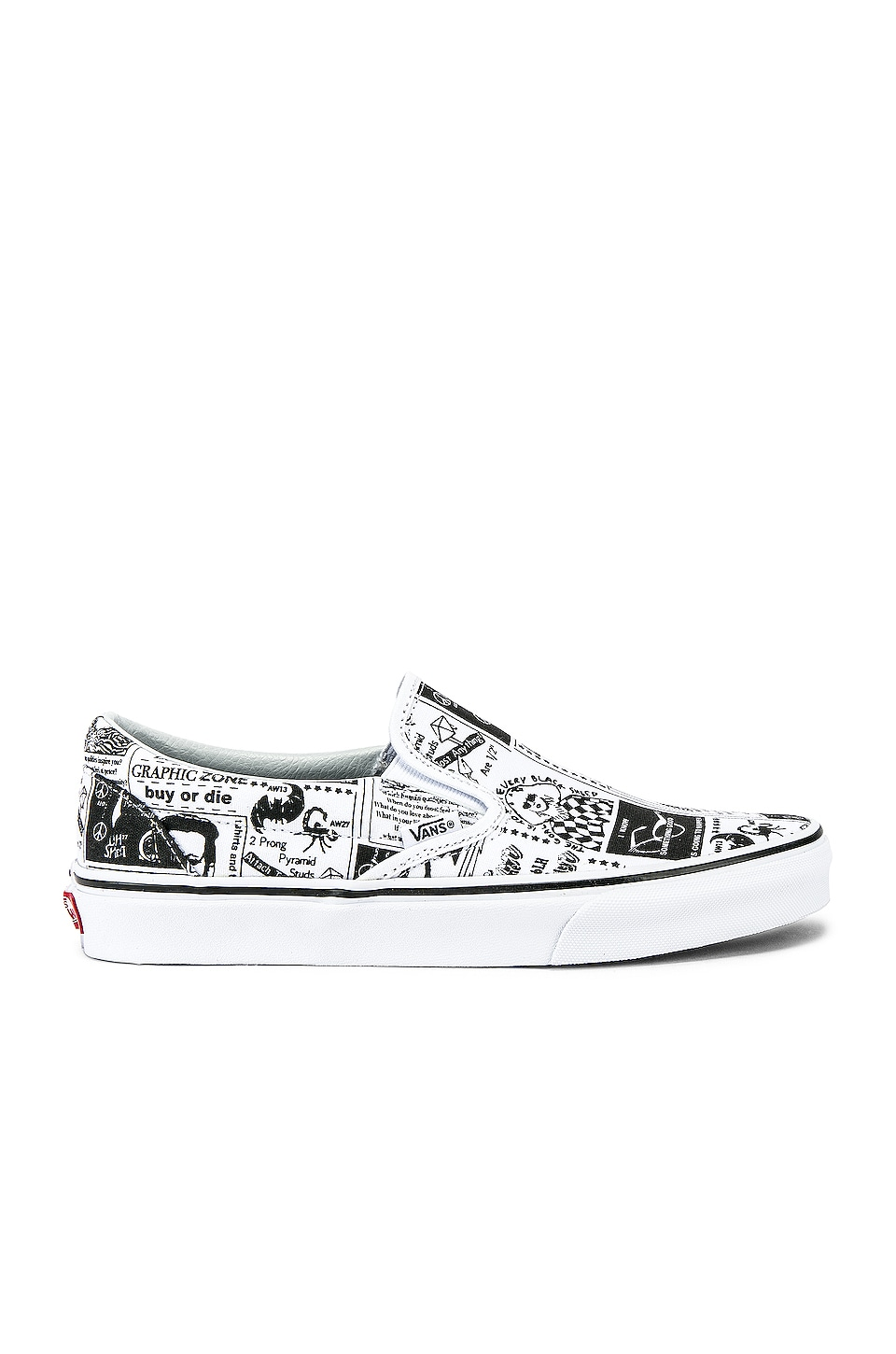 Vans x Ashley Williams Classic Slip-On in Newspaper & True White