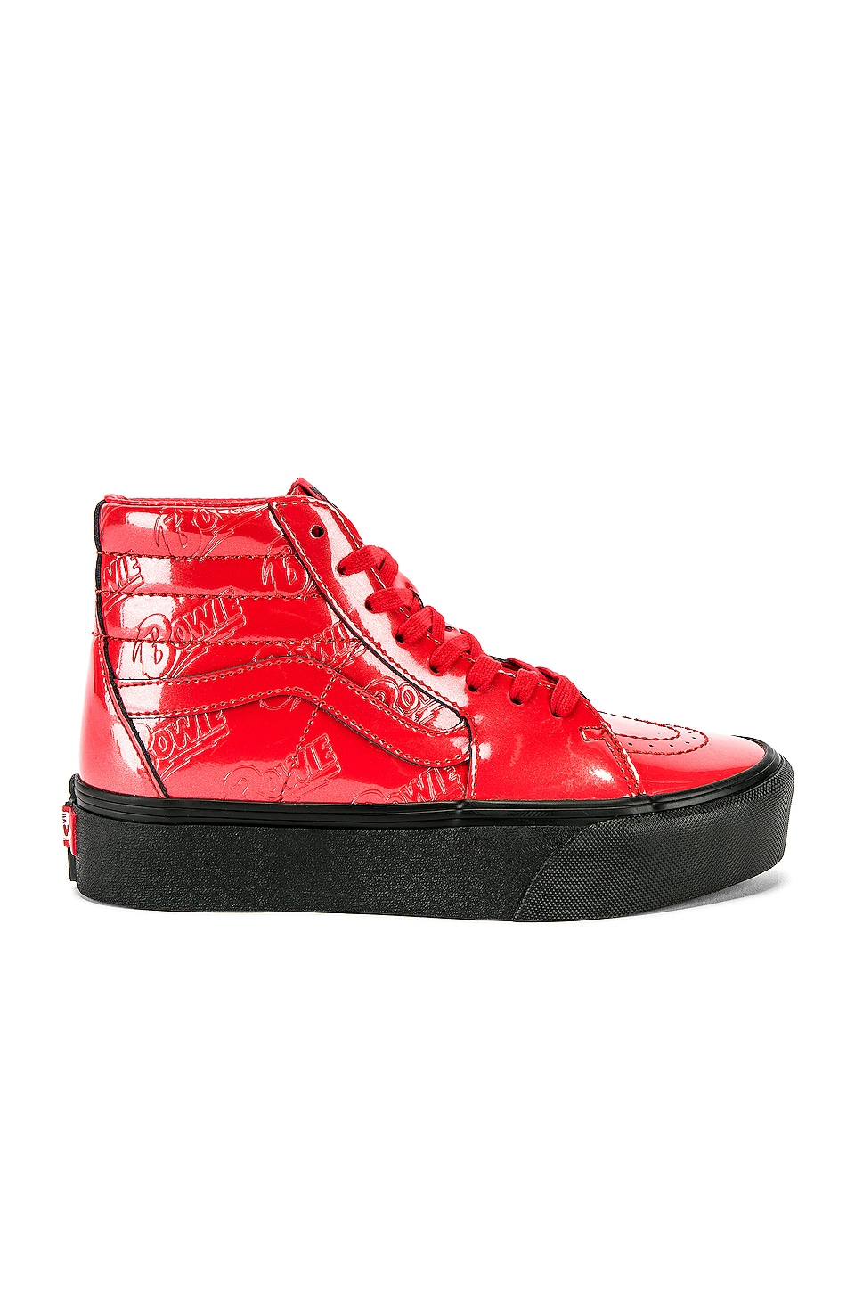 Vans x Bowie Sk8-Hi Platform 2.0 Sneaker in Red & Black